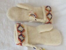 Borjesson Ladies Wool Mittens Cream ~ Made in Sweden ~ NEW ~ Insulated
