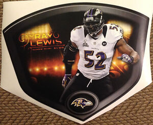 """RAY LEWIS 17""""x13"""" Super Bowl 47 Shield Mural Ravens Fathead Wall Graphics decal"""