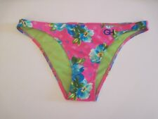 GILLY HICKS SWIM Bikini Swimsuit Bottoms Sz S Pink Floral Print Tropical NWT