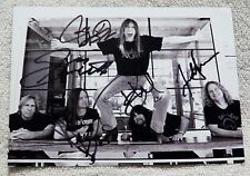 Tesla Auto Promo Postcard Signed by all 5 Jeff Keith Frank Hannon Brian Wheat