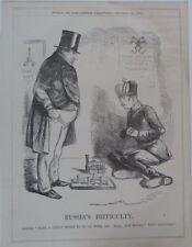 "7x10 ""punch Cartoon 1856 russia`s difficulté Guerre de Crimée / Napoléon III"
