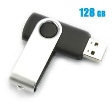 128GB USB 2.0 Flash Drive Disk Memory Pen Stick Ultra Thumb Storage Swivel Black