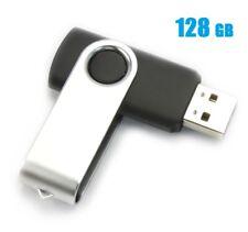 128GB USB 2.0 Flash Drive Disk Memory Pen Stick Ultra Thumb Storage Swivel Black