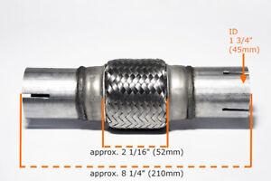 Für Mercedes Uni Flexrohr Flexstück Flammrohr Hosenrohr Auspuff 45x100 / 210MM