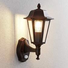 Außenwandlampe Noor Sensor Bewegungsmelder Laterne Schwarz Lindby Nostalgisch
