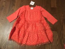 NWT Hanna Andersson Tiered Glitter Star Twirly Dress Size 100