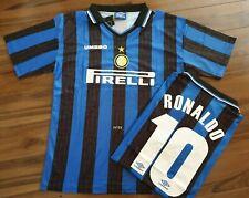 INTER MILAN 97 98 RONALDO 10 Retro Football Shirt MEDIUM *READ* Classic Vintage
