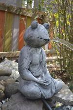 Feng Shui meditierender Frosch - Wasserspeier - Buddhafrosch - Brunnenstein