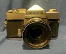 KONICA AUTOREFLEX T, 35 FILM SLR camera W KONICA HEXANON AR 52mm f/1.18 Lens