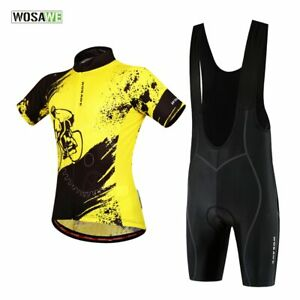 Men's Summer Cycling Uniforms Cycling Jersey Bib Pants  Bike Sports Clothing