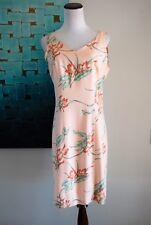 Tommy Bahama 100%  Silk Tropical Hawaiian Flower Pencil  Dress Size 8