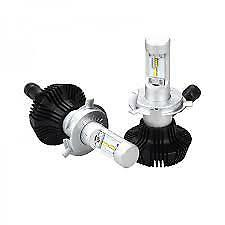 KIT COPPIA LAMPADE LED H4 LUXEON ZES 6500K 8000LM 50W TOTALI