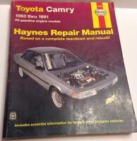 Repair Manual Haynes Toyota Camry 1983-1991 All Gas Engine Models 92005