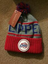 Mitchell And Ness Los Angeles Clippers Pom Beanie Very Nice!!