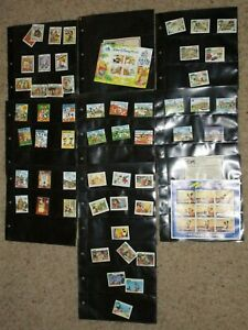 Lot Walt Disney Stamp Collection From Around the World Canada Grenada Mongolia
