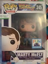 back to the future funko pop 245 marty mcfly on hoverboard F.U.N. Exclusive