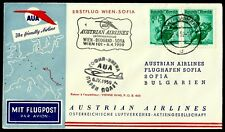 Austria, First Fly Cover, Wien - Beograd - Sofia, Year 1959, Austrian Airlines