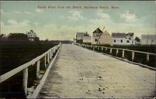 Salisbury Beach MA Plank Road c1910 Postcard