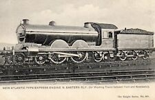 OLD KNIGHT POSTCARD 1900's NEW ATLANTIC EXPRESS ENGINE NORTH EASTERN  RAILWAY