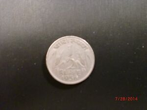 """- GOVT. OF  INDIA - ONE  """" 1/2  RUPEE """"   COIN - 1956 - NICKEL - RARE - KM# 6.2"""