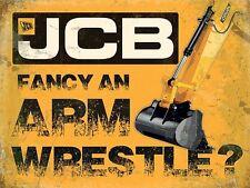 JCB Arm Wrestle steel sign (og 2015)
