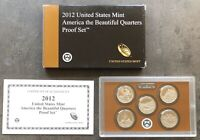USA 2012 S America The Beautiful Quarter Proof Set San Francisco PP 25c QUARTERS