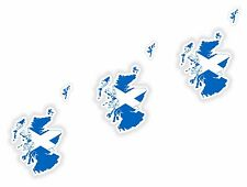 Schottland Scotland LandKarte Flagge 3x Aufkleber 3cm Silhouette Motorrad Helm