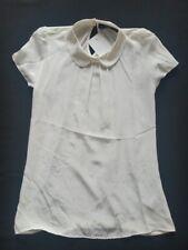 HALLHUBER Camiseta Seda/Viscosa Offwhite gr, XS NUEVO