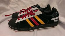 Adidas Miami Heat Superstar Casual Basketball Shoes Mint Condition Mens Sz 10.5