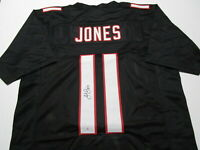 JULIO JONES / AUTOGRAPHED ATLANTA FALCONS BLACK CUSTOM FOOTBALL JERSEY / COA