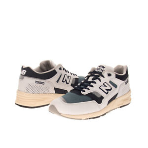RRP€135 NEW BALANCE Leather Sneakers EU 44.5 UK 10 US 10.5 Reflective Made in UK