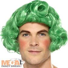 Vert Court ELF Perruque Déguisement Noël Noël Ouvrier Costume Cheveux