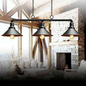 Industrial Retro Pendant Light Shade Suspended Ceiling Lighting Style Metal Lamp