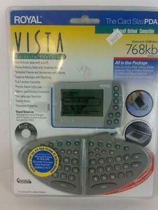 ROYAL 14527H Vista Credit Card Size PDA Electronic Organizer Detachable Keyboard
