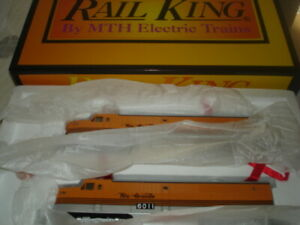 RAIL KING MTH ALCO PA DIESEL AA SET 30-2126-1 w/4 cars and B UNIT BRAND NEW