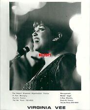 Photo de presse Virginia Vee chanteuse The Peters Sisters Musique singer