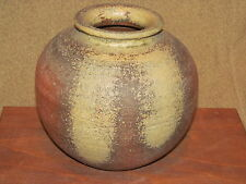 Japanese Studio Art Pottery Bowl Mid Century Signed