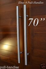 "Entry Door Pull Long Handle 70"" 1800mm Brushed 304 Stainless Steel Large Ladder"