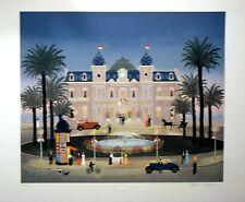 "Fabienne Delacroix ""Le Casino de Monti Carlo"" Lithograph 22.75""x 25.75"""