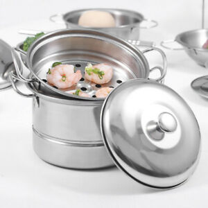 Durable Stainless Steel Small Steam Cooking Pot Cooker Kitchen Cookware Hot Pot