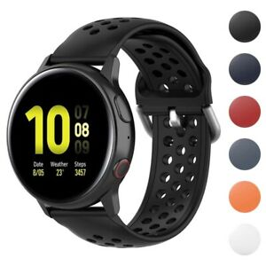 StrapsCo Buckle-and-Tuck Perforated Rubber Strap for Samsung Galaxy Watch/Active