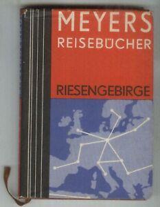 Meyers Reiseführer Riesengebirge - Isergebirge - Breslau  1930