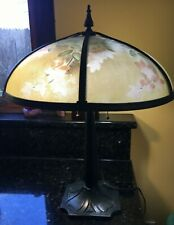 Bradley and Hubbard reverse painted lamp