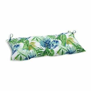 """Pillow Perfect Outdoor/Indoor Soleil Tufted Bench/Swing Cushion 44"""" x 18.5"""" B..."""