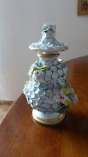Jacob Petit. Vase couvert flacon porcelaine Paris.XIXème. Signé. Porcelain vase