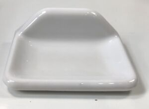 Vintage White Ceramic Wall Mount Bathroom Sink Soap Bar Dish Rectangle Angle Top