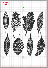Feathers Tribes Pattern Stencil MYLAR A4 sheet strong reusable Wall Craft Deco