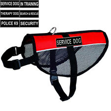 Service Dog Vest Mesh Reflective Dog harness Removable Patches Info Cards label