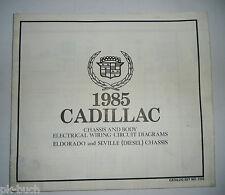 Elektrischer Schaltplan / Wiring Diagram Cadillac Eldorado Seville Diesel 1985