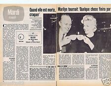 Coupure de presse Clipping 1980 Marilyn Monroe (2 pages)